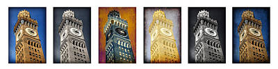 Vintage Baseball Players Rights Managed Images - Bromo Seltzer Tower Panoramic Royalty-Free Image by Stephen Stookey