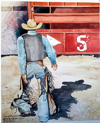 Painting - Bronc Buster by Lance Wurst