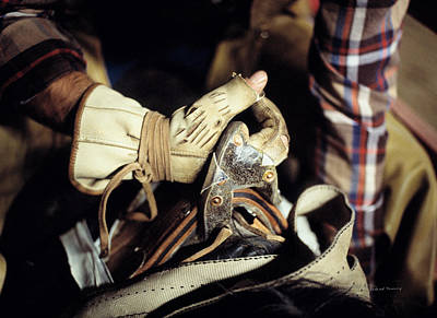 Photograph - Bronc Rider Grip by Leland D Howard
