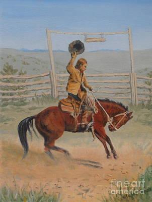 Bronc Painting - Bronco by Elaine Jones
