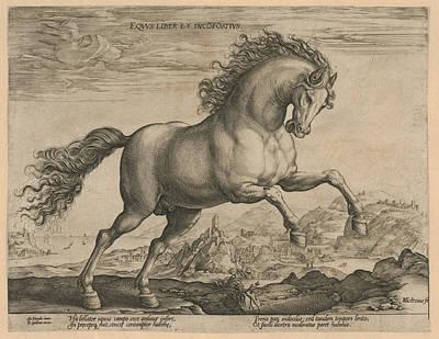 Broncos Drawing - Bronco, Hendrick Goltzius, Philips Galle by Hendrick Goltzius And Philips Galle