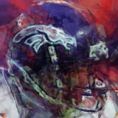 Broncos Art  Art Print