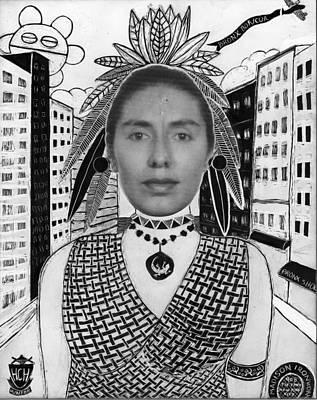 Drawing - Bronx Boricua by Aurora Levins Morales