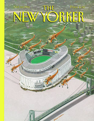 Yankee Painting - Bronx Cheer by Bruce McCall