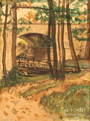 Painting - Bronx River Park - New York  1939 by Art By Tolpo Collection