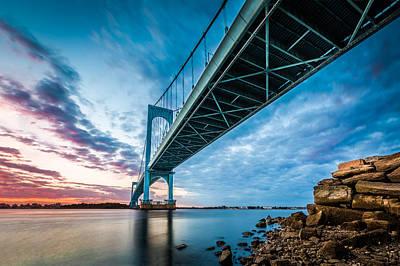 Photograph - Bronx Whitestone Bridge by Mihai Andritoiu