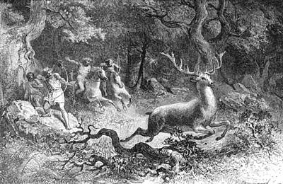 Early Human Photograph - Bronze Age, Hunting Scene by British Library