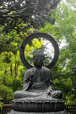 Golden Gate Park Photograph - Bronze Buddha Statue Cast In 1790 by Susan Pease