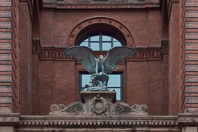 Fleur De Lis Photograph - Bronze Eagle - Omaha Building by Nikolyn McDonald