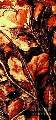 Painting - Bronze Fall Leaves 2 by Hazel Holland