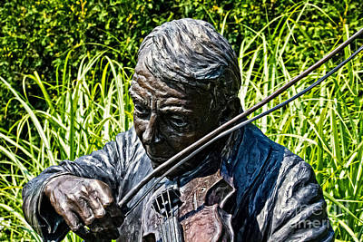 Photograph - Bronze Fiddler by Ms Judi