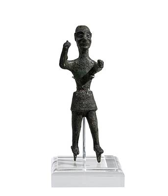 Bronze Figurine Of Baal Art Print by Science Photo Library