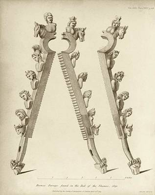 1840 Photograph - Bronze Forceps Found In The Thames by Middle Temple Library
