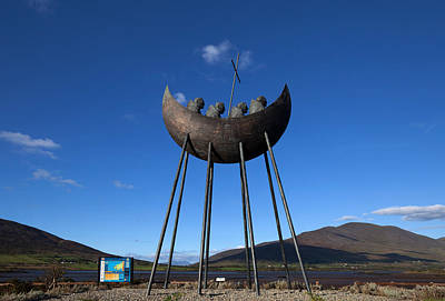 Currach Photograph - Bronze Sculpture Also Known As The St by Panoramic Images