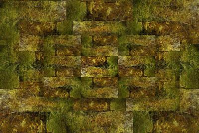 Art Print featuring the digital art Bronze Weave by Tom Romeo