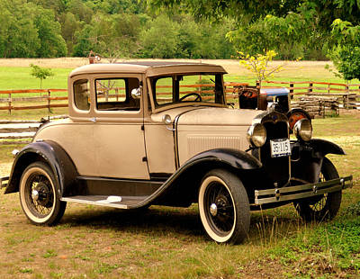 Photograph - Bronzed Model A by Marty Koch