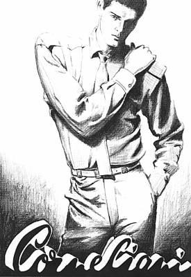 Brooding Man Art Print by Sarah Parks