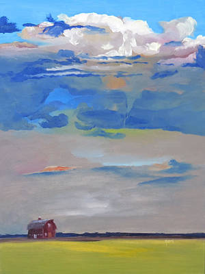 Comfort Painting - Brooding Sky by Kari Melen