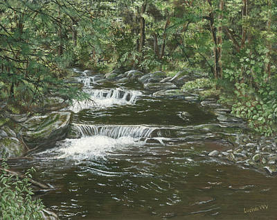 Painting - Brook In Spruceton by Lucinda V VanVleck