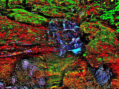 Photograph - Brook Texture Z150 by George Ramos