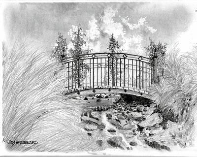 Brook To Lake Mira Mar Art Print