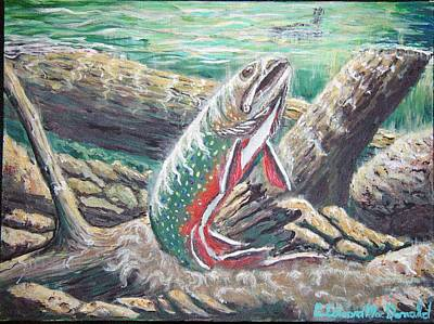 Painting - Brook Trouts Buff Ay  by Carey MacDonald