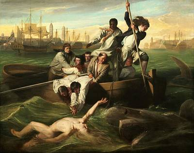 Brook Watson And The Shark Print by John Copley