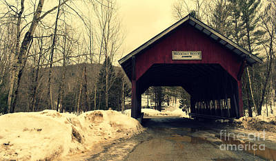 Brookdale Bridge At Stowe Vermont Art Print by Patricia Awapara