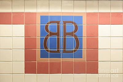 Nyc Subway Mosaic Photograph - Brooklym Bridge Station Sign by Jannis Werner