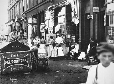 Brooklyn Storefronts Photograph - Brooklyn, 1899 by Granger