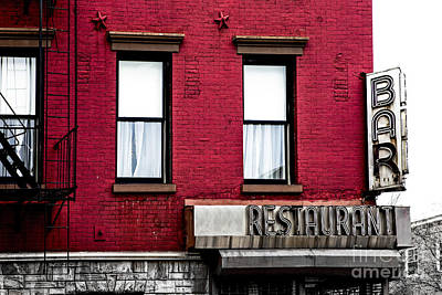 Brooklyn Bar Art Print by Diane Diederich