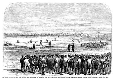 Baseball Painting - Brooklyn Baseball, 1866 by Granger