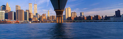 Brooklyn Bridge & Manhattan Skyline Art Print by Panoramic Images