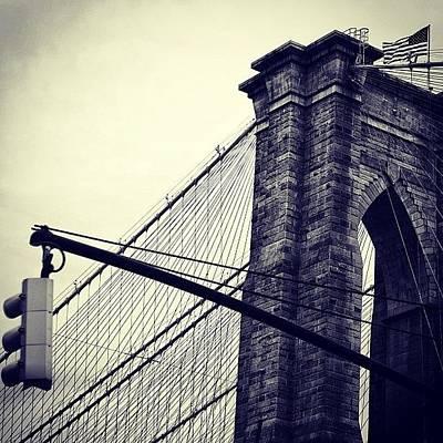 Instacnvs Photograph - Brooklyn Bridge - Ny by Joel Lopez
