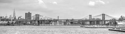 U2 Photograph - Brooklyn Bridge by Alex Hiemstra