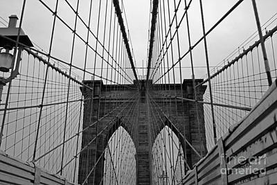 Photograph - Brooklyn Bridge by Alison Tomich