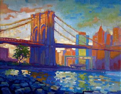 Brooklyn Bridge Am Art Print by Caleb Colon