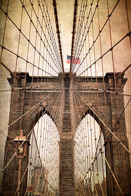 Brooklyn Bridge Approach Art Print