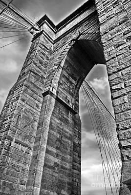 Colored Pencils - Brooklyn Bridge Arch - Vertical by Carlos Alkmin