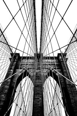 Photograph - Brooklyn Bridge Architecture In Black by Az Jackson