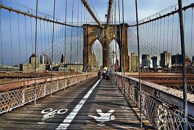 Photograph - Brooklyn Bridge At Dusk by Carlos Alkmin