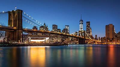 Photograph - Brooklyn Bridge At Dusk by Mihai Andritoiu