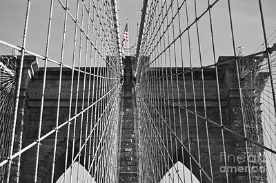 Photograph - Brooklyn Bridge Color Pop by Steve Purnell