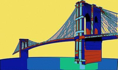Painting - Brooklyn Bridge Colors by Florian Rodarte