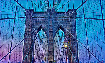 Photograph - Brooklyn Bridge Dawning by Hanny Heim