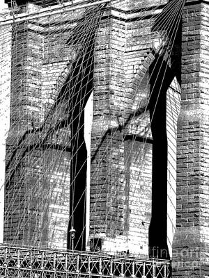 Photograph - Brooklyn Bridge Detail by Jacqueline M Lewis