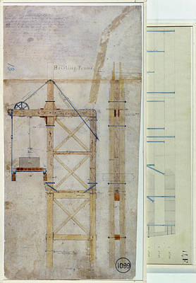 Brooklyn Bridge: Diagram Art Print by Granger