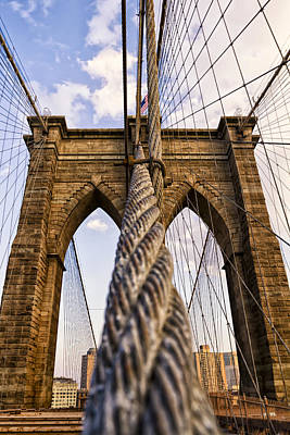 Photograph - Brooklyn Bridge by Eduard Moldoveanu