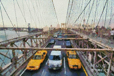 Painting - Brooklyn Bridge by George Atsametakis