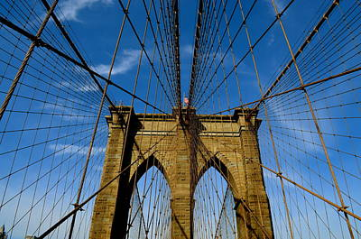 Photograph - Brooklyn Bridge by Gregory Merlin Brown